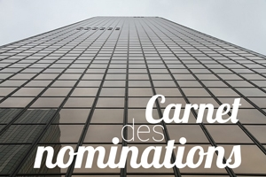 CARNET DES NOMINATIONS - SEPTEMBRE 2015