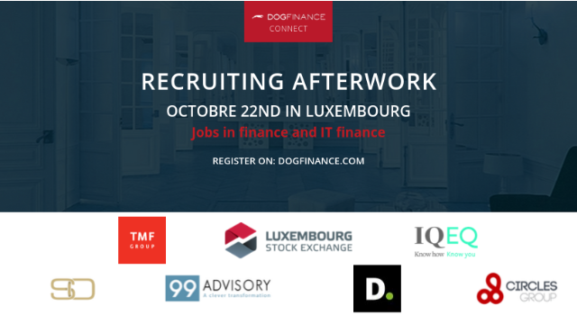Soirée Dogfinance Connect Luxembourg–  Métiers de la finance et de l'IT finance